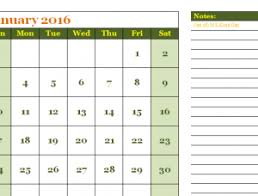 Simple Calendar Template 2015 2016 Simple Calendar Template My Excel Templates