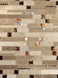 brown glass travertine mix backsplash tile for traditional kitchen