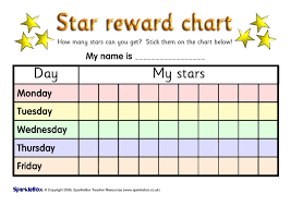 5 Day Reward Charts Printables Template For Pre K 3rd