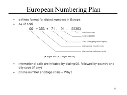 european phone number format 1 introduction to telecommunications lecture 1 paul flynn ppt