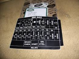 land rover xd fuse box sticker rrc8422