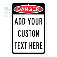 custom danger sign with your text personalised aluminum metal signs vintage road tin plates decorative plaque personalise