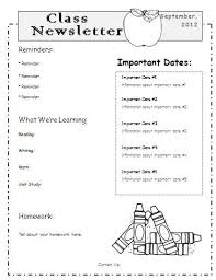 School Newsletter Template For Word Teacher Newsletter Templates Word School Classroom Newsletter