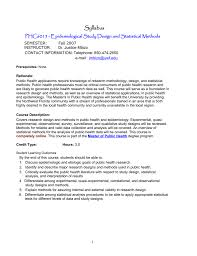Epidemiological Research Design Phc6015 Epidemiological Study Design And Statistical Methods