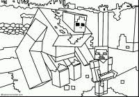 Minecraft Coloring Pages For Kids With Minecraft Herobrine Coloring