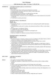 Pharmacy Tech Resume Template Senior Pharmacy Technician Resume Samples Velvet Jobs