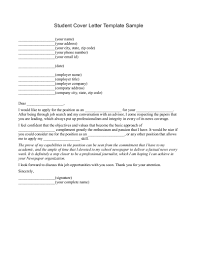 Application Letter For I T Student Cover Examples College Graduate
