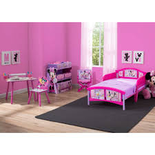 Minnie Mouse Bedroom Furniture Disney Minnie Mouse Room In A Box With Bonus Chair Walmartcom