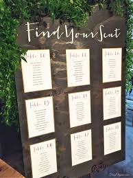How To Make A Wedding Seating Chart Diy Wedding Seating Chart Clipart Images Gallery For Free