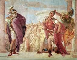 minerva preventing achilles from killing agamemnon from the  minerva preventing achilles from killing agamemnon from the iliad by homer community artauthority net