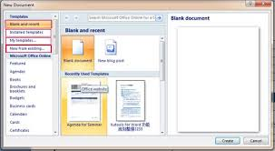 ms word 2007 template how to create template in word where to save download and install