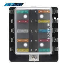 compare prices on fuse box cover online shopping buy low price 10 way blade fuse box holder plastic cover m5 stud standard 6 3mm spade terminals