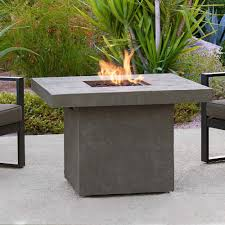 round gas fire pit table. Home Interior: Fortune Propane Gas Fire Pit Table Real Flame Ventura 50 In Fiber Concret Round