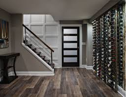 basement ideas. Ground Level Wine Cellar In Modern Style Basement Ideas A