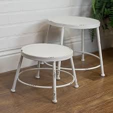 outdoor white furniture. exellent white white metal stools set of 2 in outdoor furniture