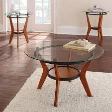 steve silver company saxony 3 piece cocktail and end table set in cherry