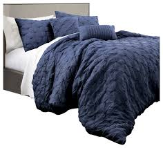 ravello pintuck comforter navy 5pc set
