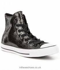 converse women s chuck taylor all star meatllic leather lace up high top