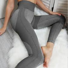 Light Leggins Women Peach Hip Pants Sin Costura Leggins Mujer Por Mayor Seamless Yoga Leggings Light Gray