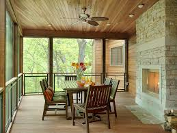 modern fireplace screens porch contemporary with ceiling fan ceiling lighting