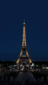 paris night france city eiffel tower