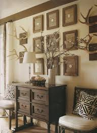 decorating with antlers rustic