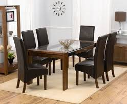 dining table design with glass top wood base glass top dining intended for glass top dining