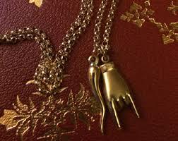 mens 14kt gold mano cornuto cornicello set italian hand and horn heavy chain included genuine 14k