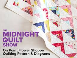 On Point Quilt Pattern and Quilting Diagrams - Midnight Quilt Show ... & On Point Quilt Pattern and Quilting Diagrams - Midnight Quilt Show | Craftsy Adamdwight.com