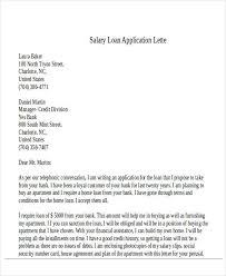 Sample Salary Loan Application Letter