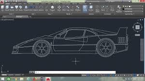 Car Design In Autocad 2d How To Design Sports Car In Autocad Autocad Tutorial