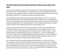capital punishment essay con death penalty at com pro speech capital punishment a level general studies