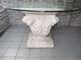 bases for round glass dining tables. fantastic carving stone base for round glass top dining table bases tables