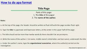 How To Write Article Title In Text Apa