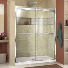 glass doors for bathrooms. H Semi-Frameless Bypass Shower Glass Doors For Bathrooms R