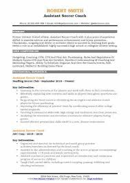 Assistant Soccer Coach Resume Samples 1173595248 Sports