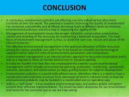 enviornmental protection act  conclusionbull in conclusion environment pollution