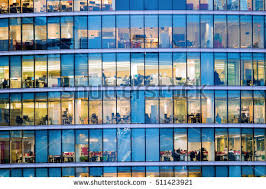 office facade. people working at office building in london facade d