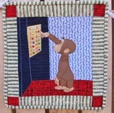 Patchouli Moon Studio: Curious George Birthday Gifts & Curious George Rides the Elevator quilt. Adamdwight.com