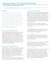 Executive Summary Outline One Page Business Plan Template Awesome Executive Summary 2