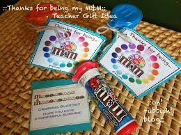 an exle idea of thanks for being my m m teacher gift idea