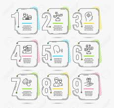 Infographic Template With Numbers 9 Options Set Of Cleaning