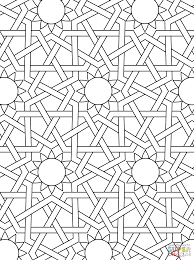 Islamic Ornament Mosaic Coloring Page From
