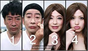 the middle aged man who transforms himself into a young lady an anese man makeup