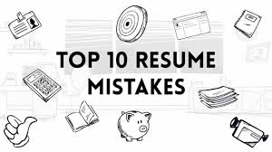 Top 10 Resume Mistakes Youtube
