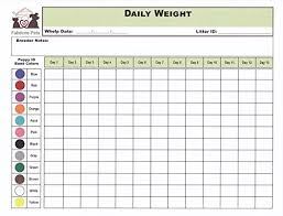 Whelping Chart Puppy Whelping Collars Set With Color Coded Record Keeping