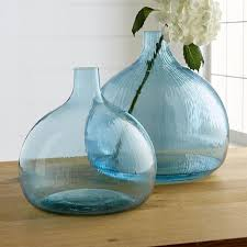 recycled turquoise glass vase