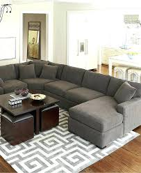 living room rug placement area in