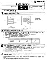 aiphone installation instructions wiring diagram collection Door Chime Wiring-Diagram aiphone installation instructions