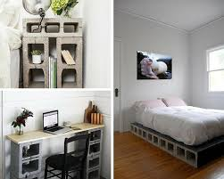 Diy Bedroom Ideas For DIY Projects Men Concrete Block Furniture